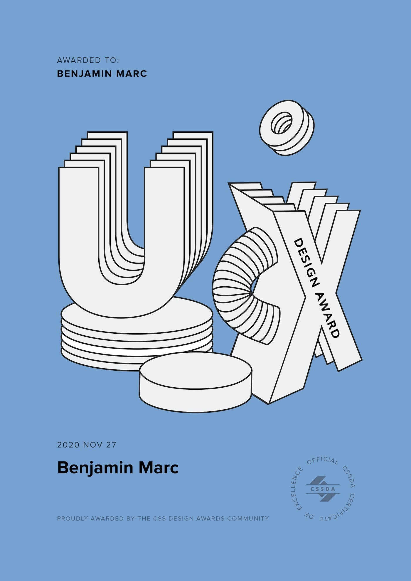 Benjamin Marc Wins Award for Best UI, UX Design and Innovation
