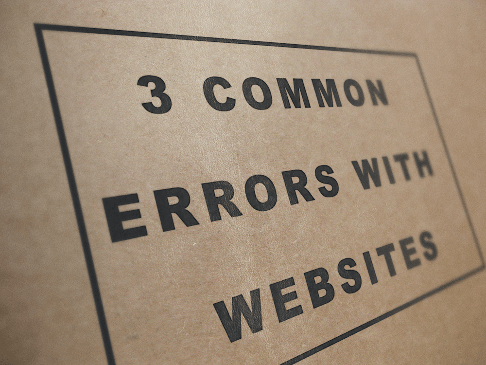 3 Common Errors With Websites