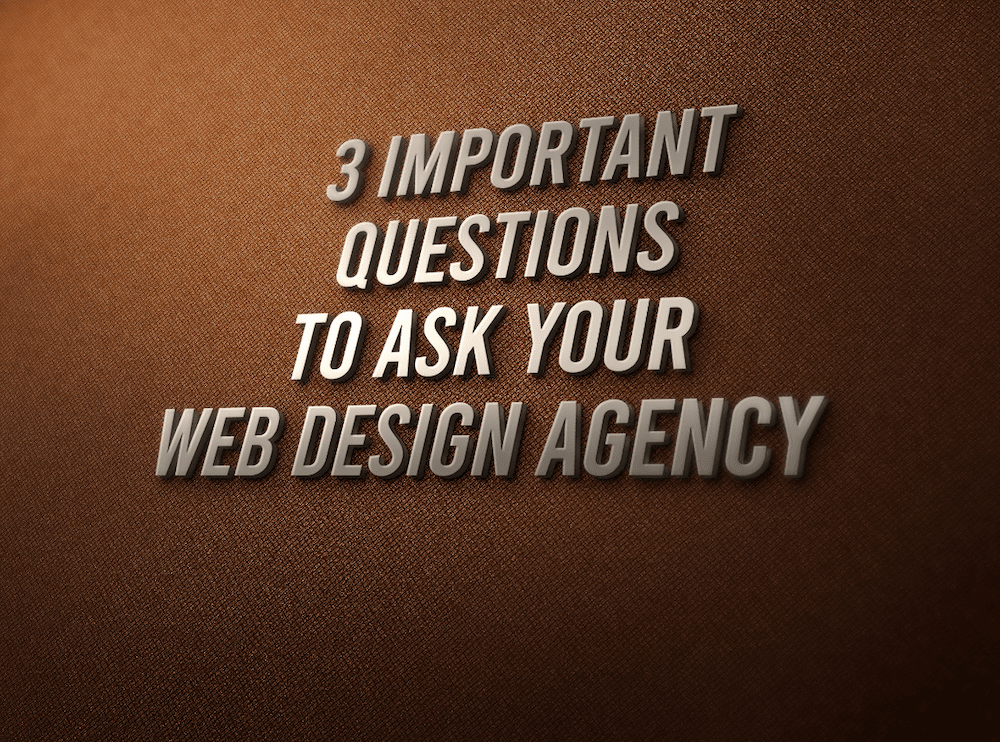 3 Important Questions To Ask Your Web Design Agency